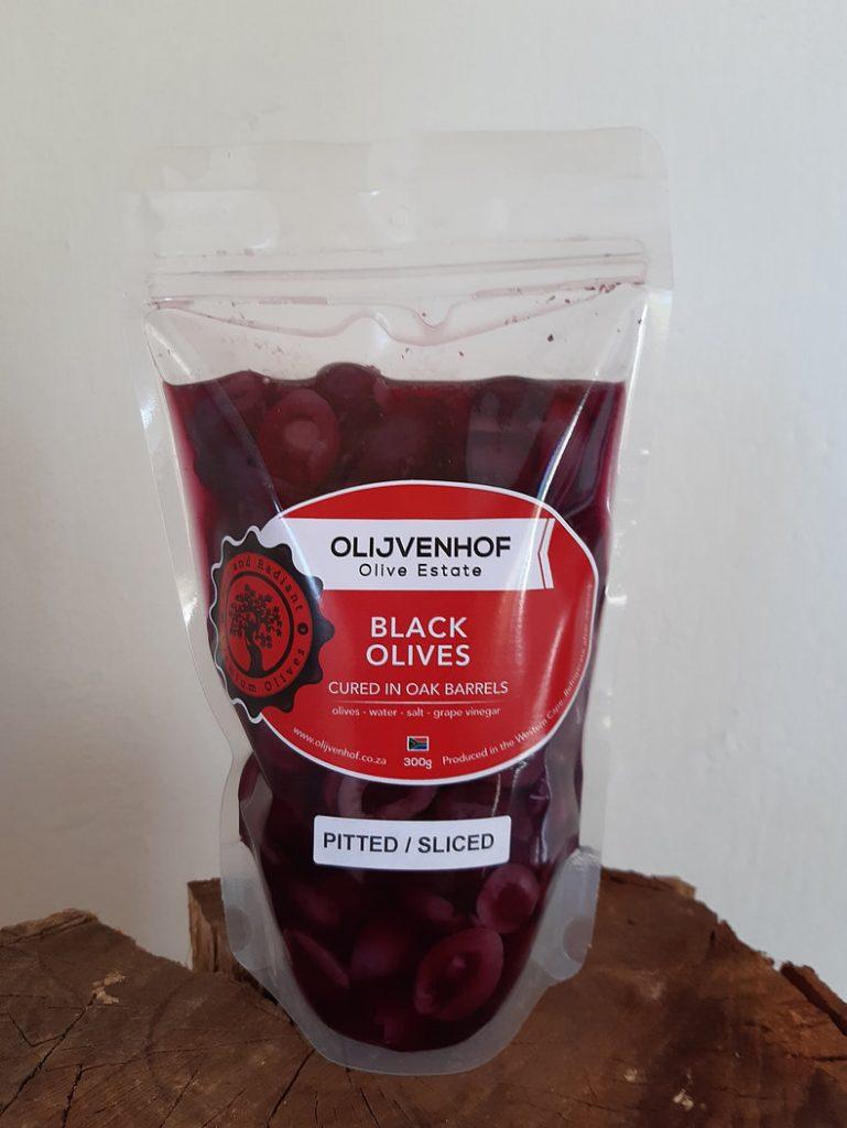 black olives pitted halves